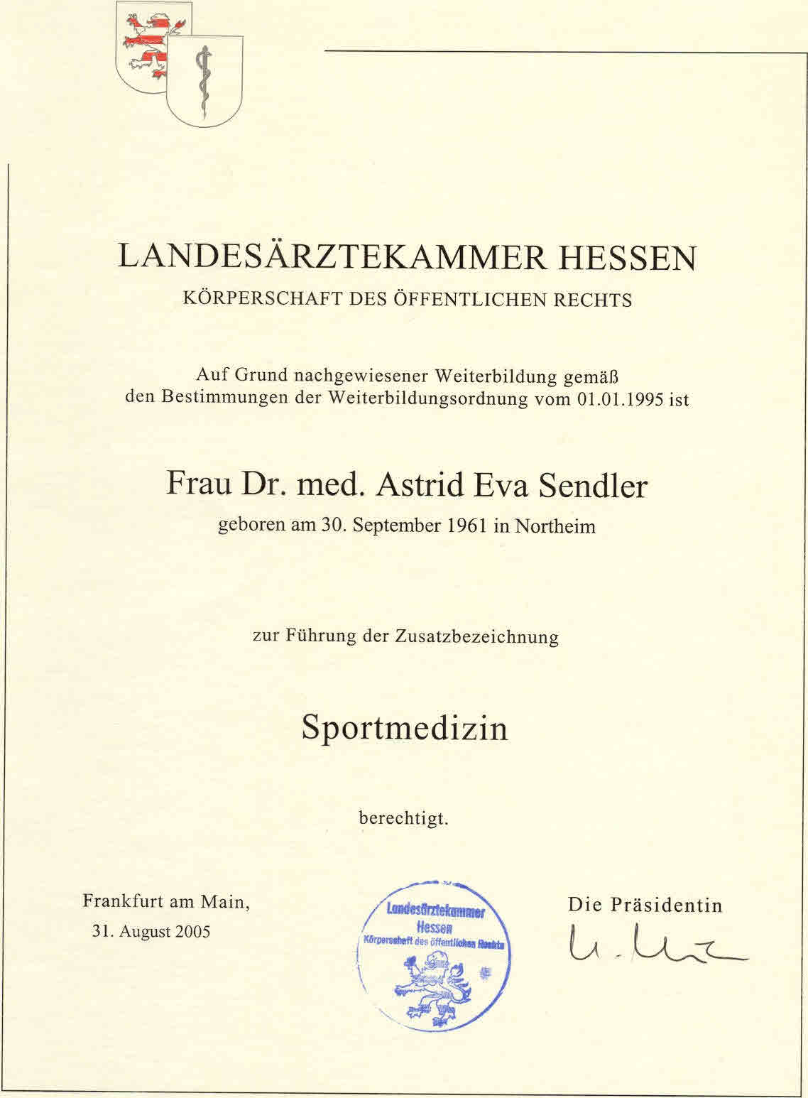 Anerkennung Sportarzt 22 09 05 Orig